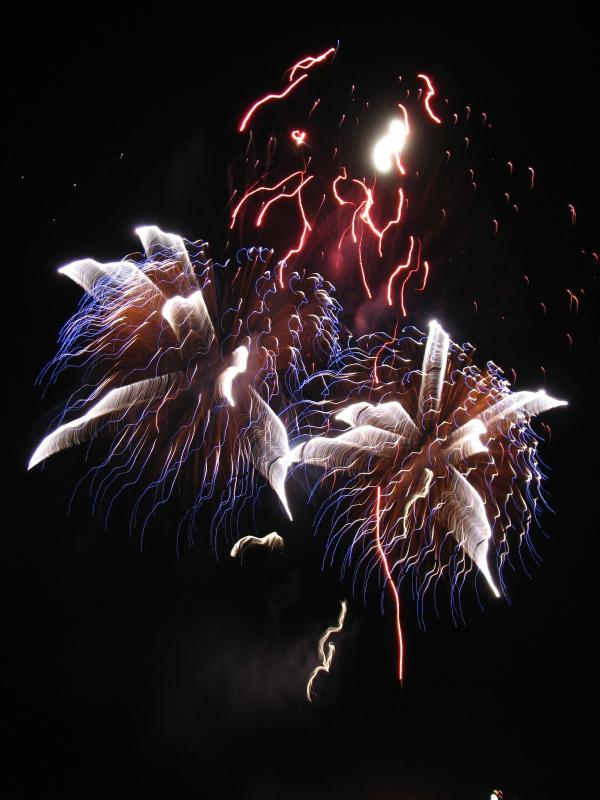 Watching Fireworks from the Balcony-Friday Nights Summertime