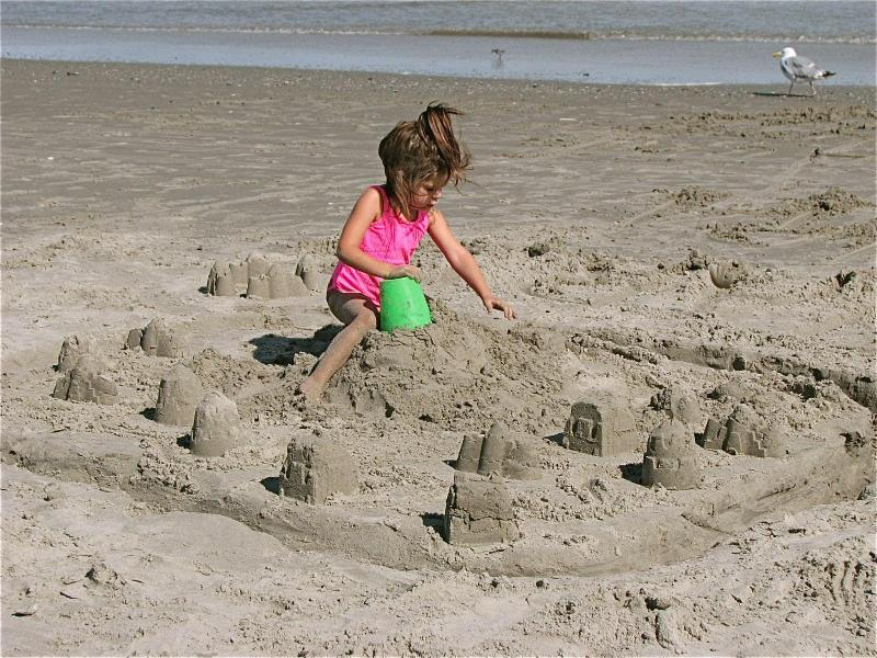 Building Sand Castle's at the Beach