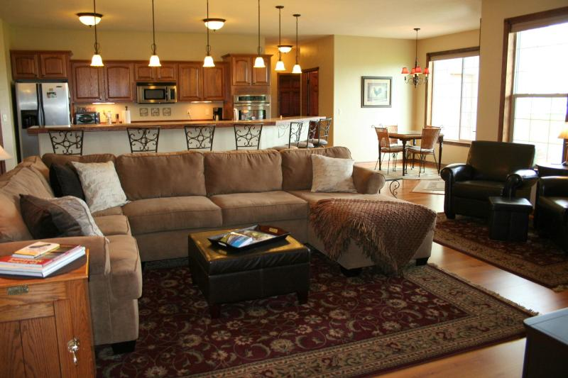 Newer Country home sits on 2 acres with views in all directions. Large, beautiful new home!