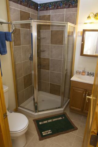Bathroom Adjacent to Living Room