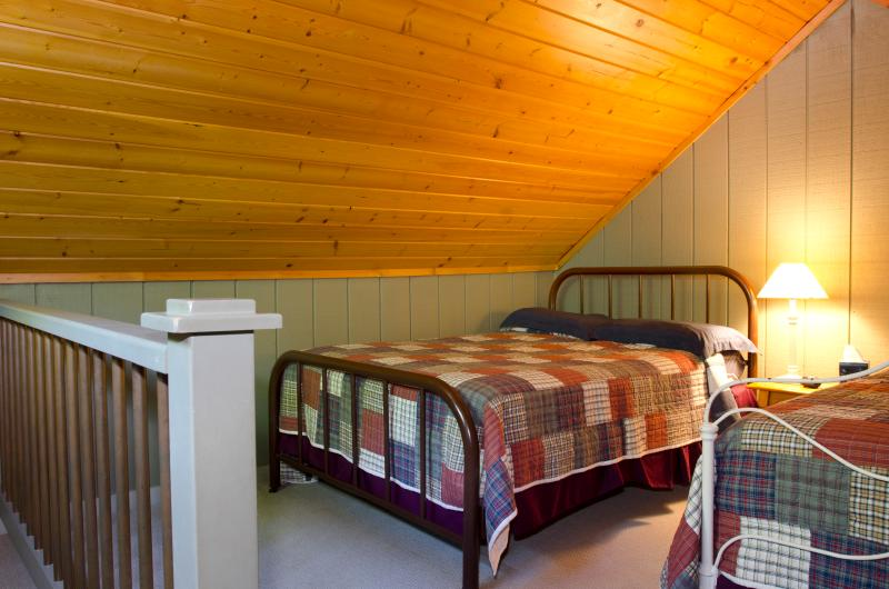 The Loft with two full-size beds