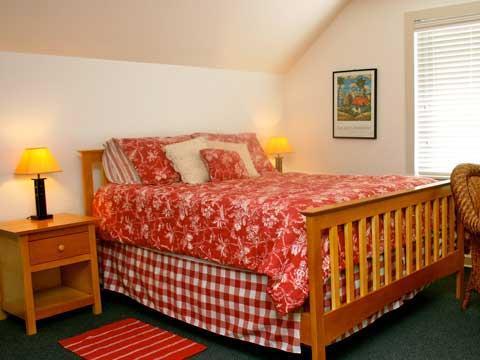 La camera rossa è al piano superiore