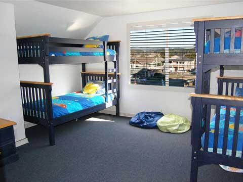La camera dei bambini è al piano superiore