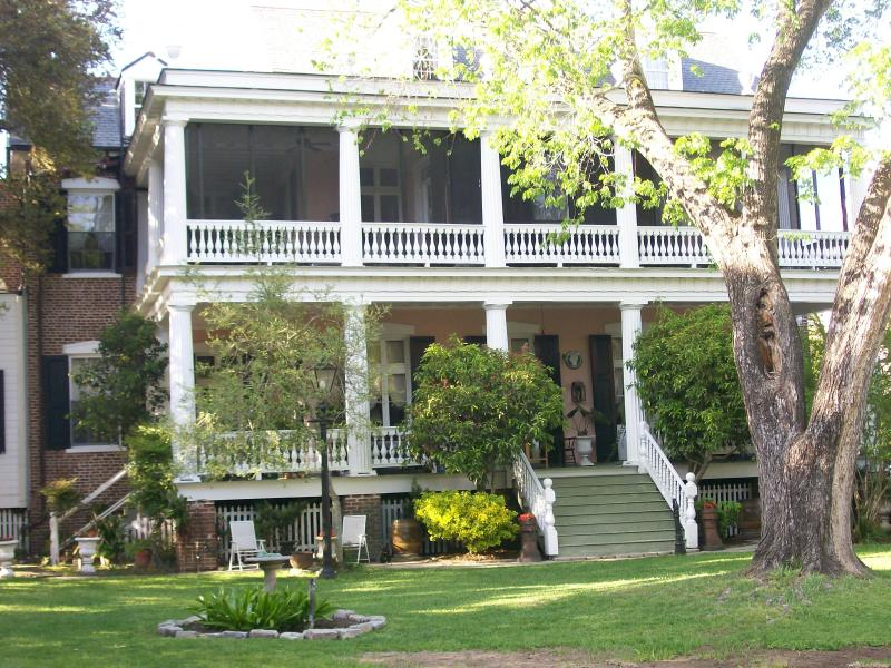 View of the main house from the cottage patio