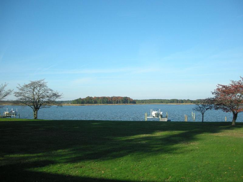 View of the water from the front of the home