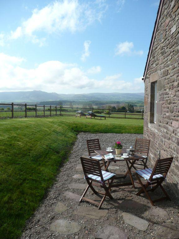 Enjoy al fresco dining on the sheltered sun terrace with amazing views over the Strathearn Valley.