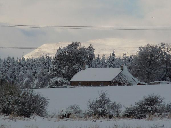 Enjoy being surrounded by a winter wonderland and super cosy inside with underfloor heating/log fire