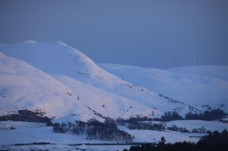 This stunning shot of the hills was taken from the cottage by a guest.