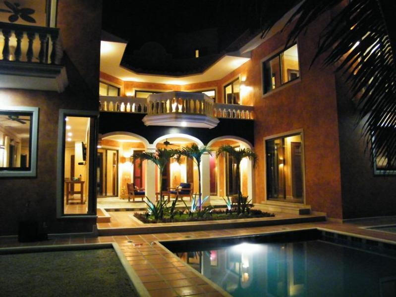 Another night view of house exterior