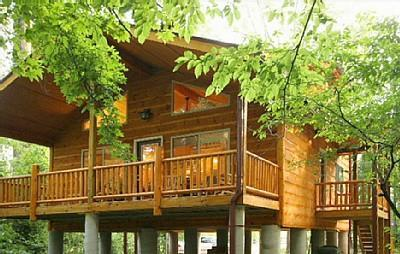 Helen Riverside Cabin Alpine Helen, Georgia on the bank of the Chattahoochee River.