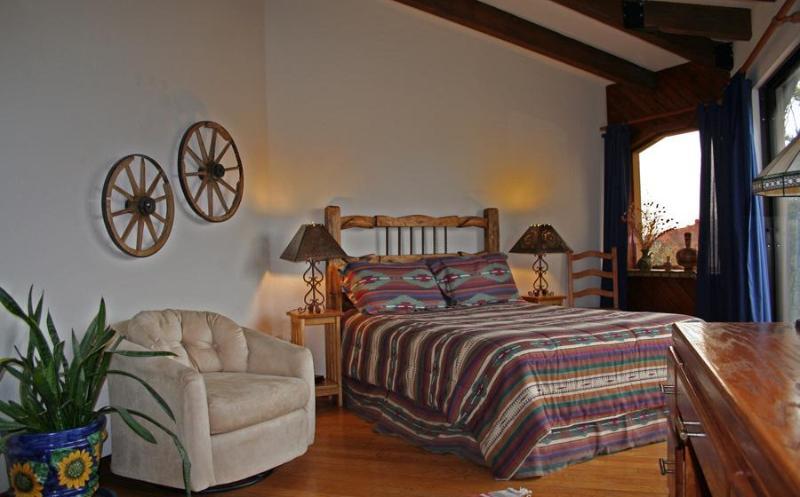 Boynton Canyon BR: A comfortable queen-sized bed, swivel easy chair...