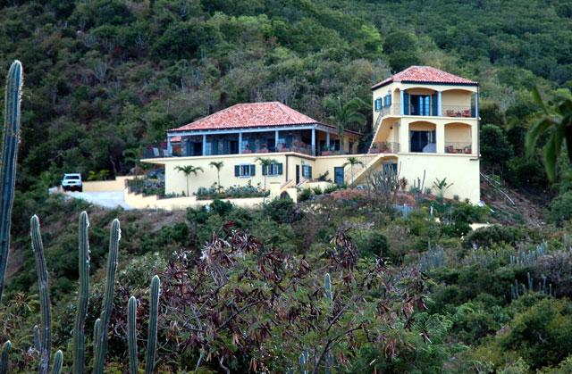 The villa is high on a hill between Johnson & Friis Bays - with absolutely breathtaking views.