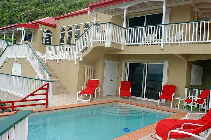 The 20' X 8' pool and deck invite guests for night swims, private sunning, and lounging about.