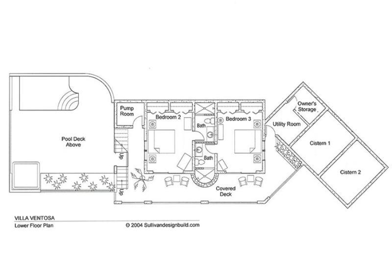Ventosa's lower floor plan