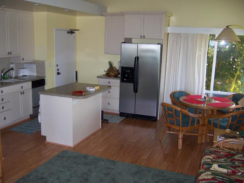 Full Kitchen with Large New Refrigerator