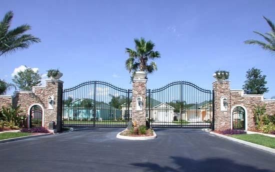 Community Gated Entrance