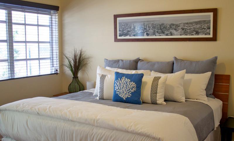 Master bedroom queen or king size bed