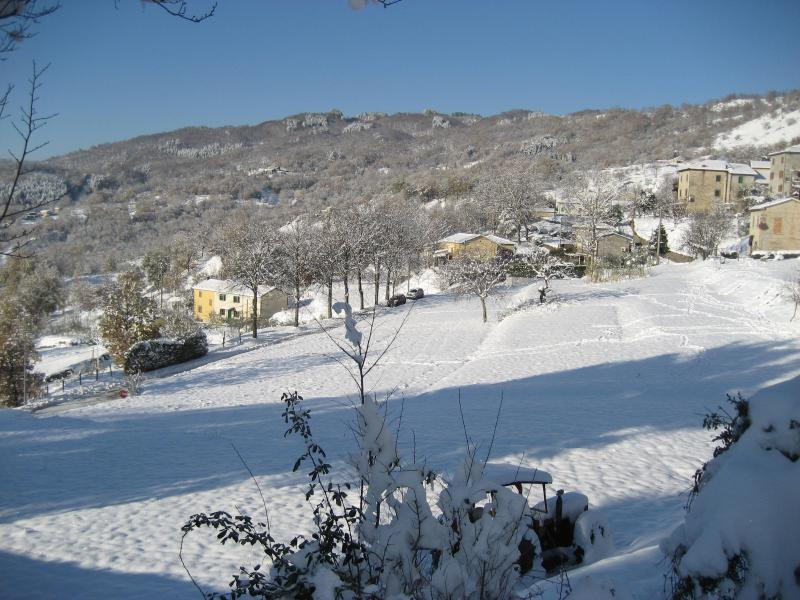 The surrounding area in december