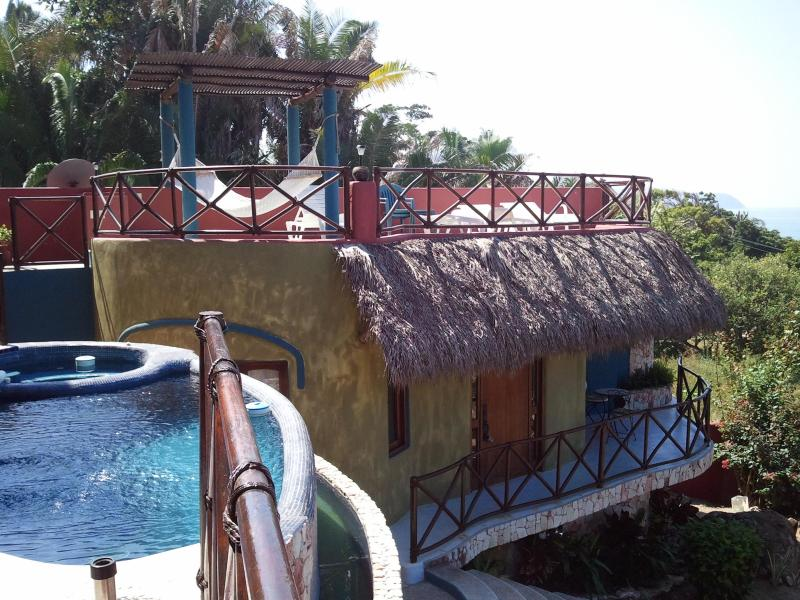 View of the casita from the Main house