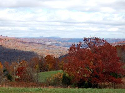 Autumn across the mountains from StoneWind.