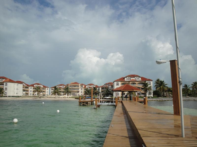 End of Grand Caribe's Boat Dock...Looking Back Towards Resort
