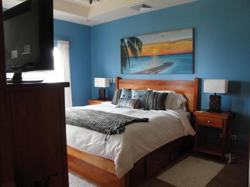 Master Bedroom offers TV with DVD Player.