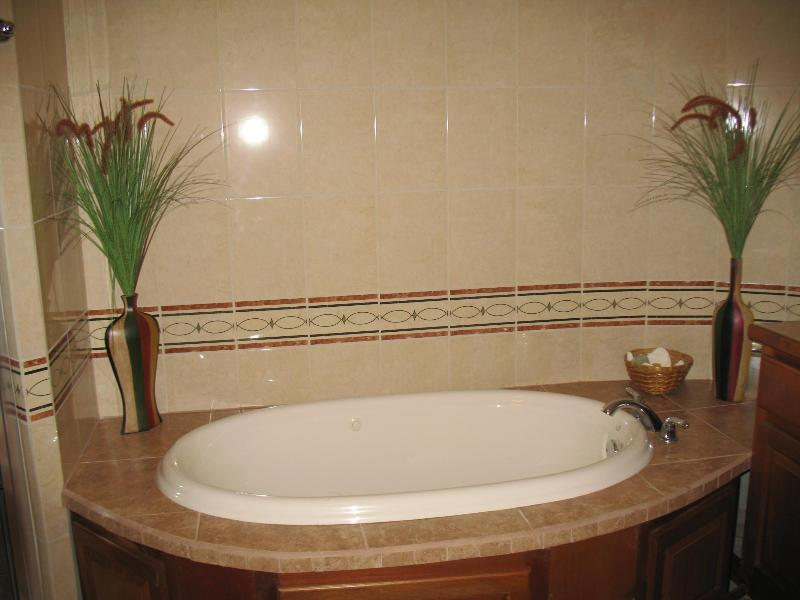 Master Bathroom has Large Separate Shower and Oversized Jacuzzi Tub!