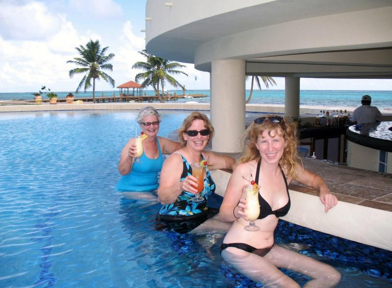 Enjoying a Refreshing Cocktail...without Leaving the Pool!
