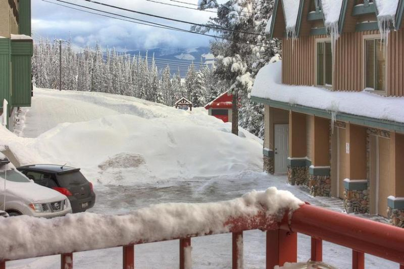Other direction from deck / hot tub. View towards Bullet Express / Fire Hall