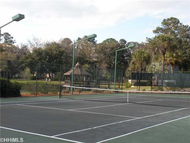 Evian has 6 Tennis courts (4 lighted!) available at no charge to guests. Just Resurfaced in 2010