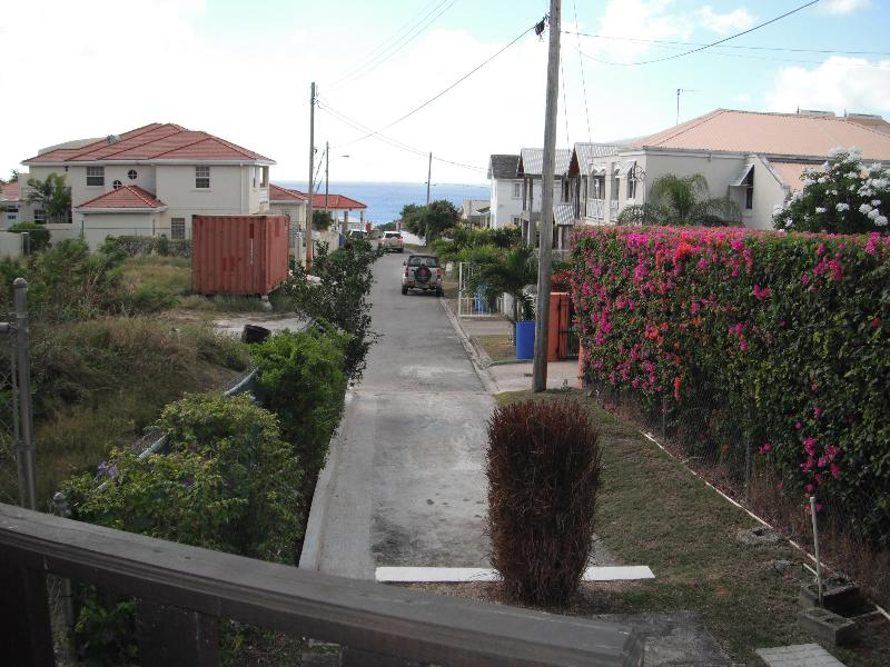 View looking westward to sea from apartment patio