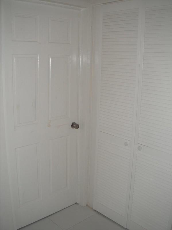 Access to bedroom and laundry closet