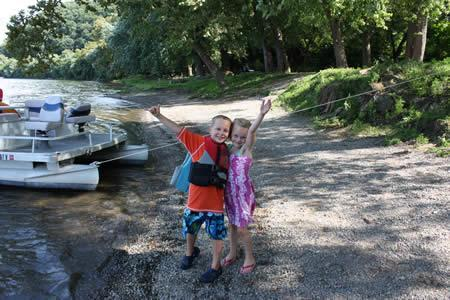 kids having fun at the Harpers Ferry Campground