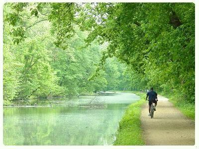 biking on the C and O Canal National Park