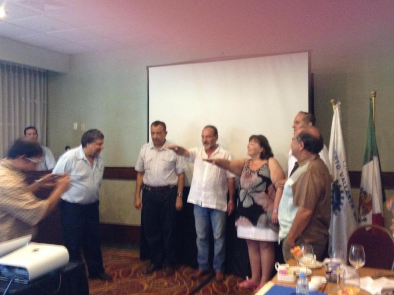 Swearing of Guy at the Rotary club  Puerto Vallarta SUR