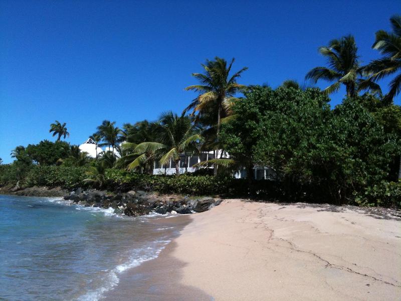 Shoy's Beach with Pyramid Point white villas