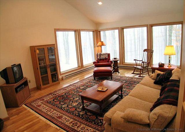 Cozy family room with great windows.