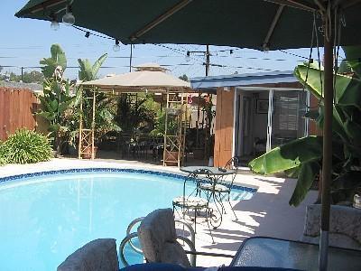 Regardant de piscine de Spa