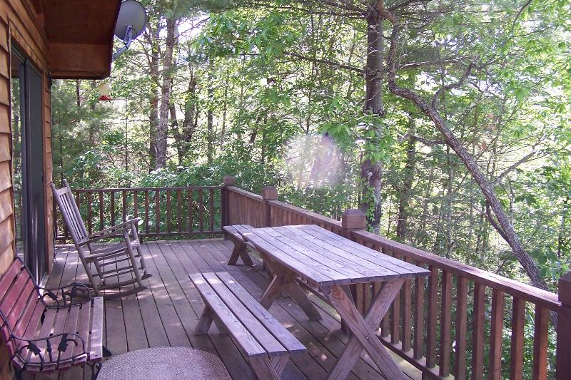 Terrasse avec barbecue et belle brise fraîche
