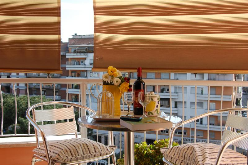 Enjoy breakfast or a drink on the balcony!