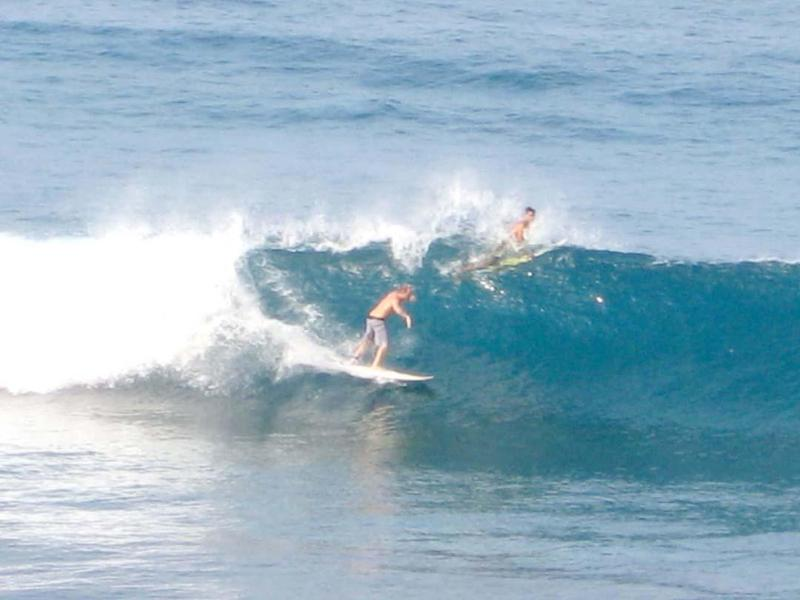 Honl Beach is one of the favorites for locals for surfing & Boogie Boarding
