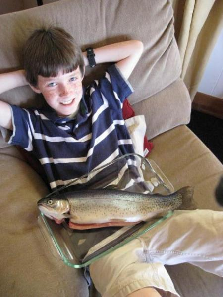 A proud boy and his 'FOD' - fish of the day