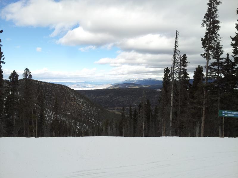 The ski mountain
