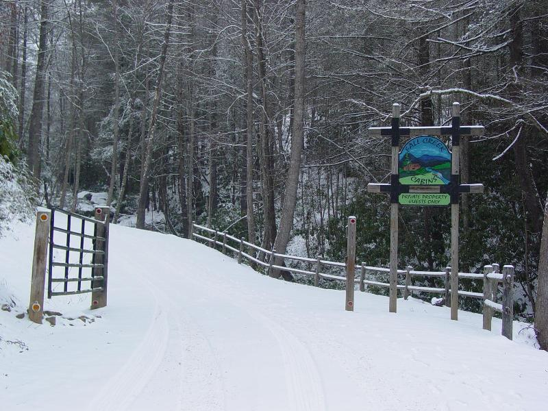 Entrance after Snow - January 2011