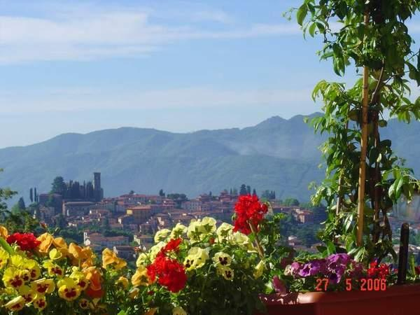 The amazing view of Barga from the terrace