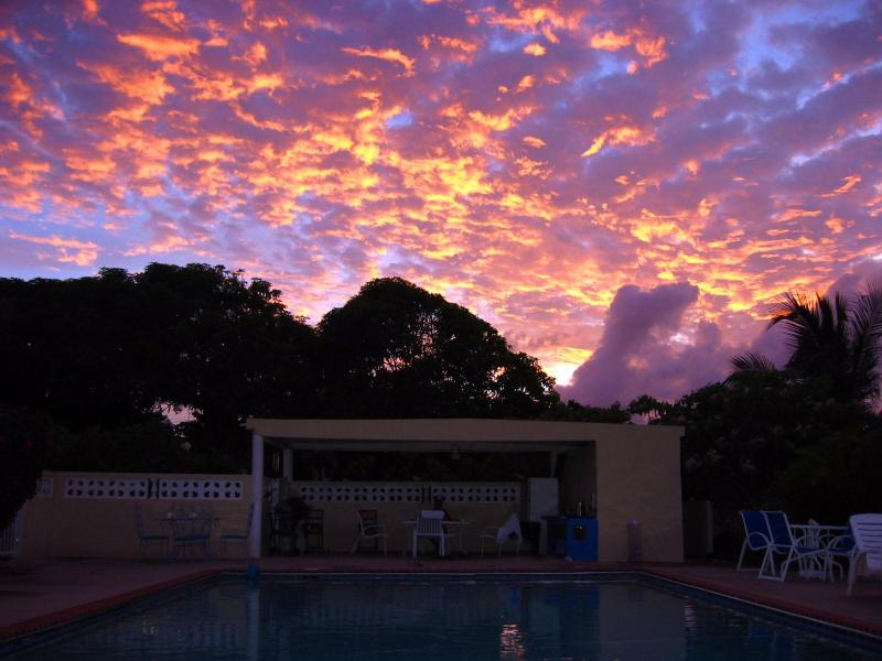Sunset at the Casa Ladera pool