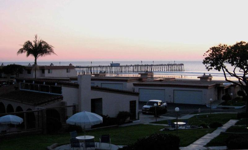Pismo Beach pier and ocean view from master bedroom