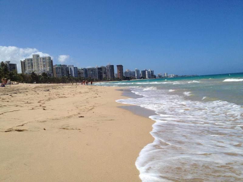 View of Condado from our beach.