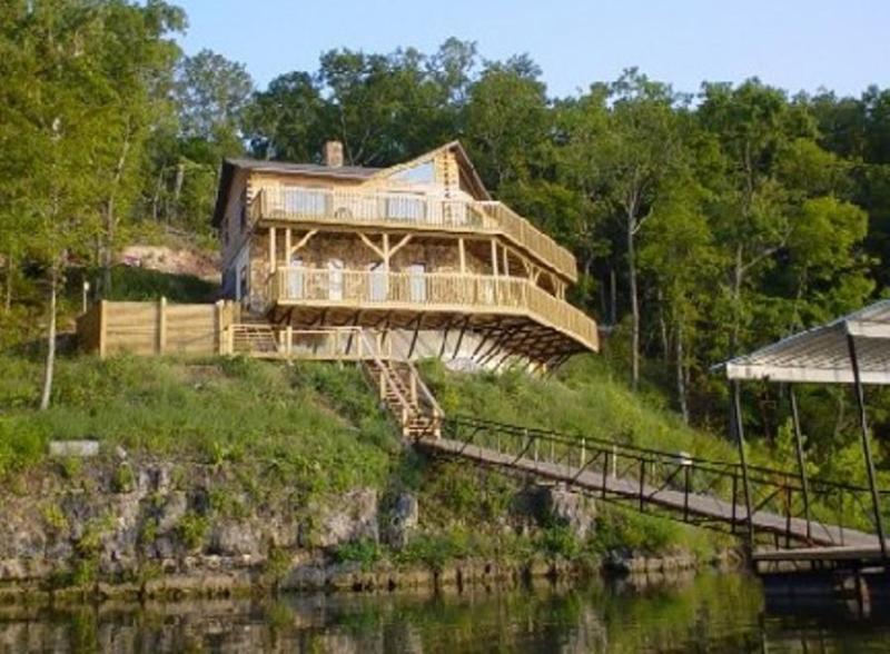 Weergave van huis uit het meer!