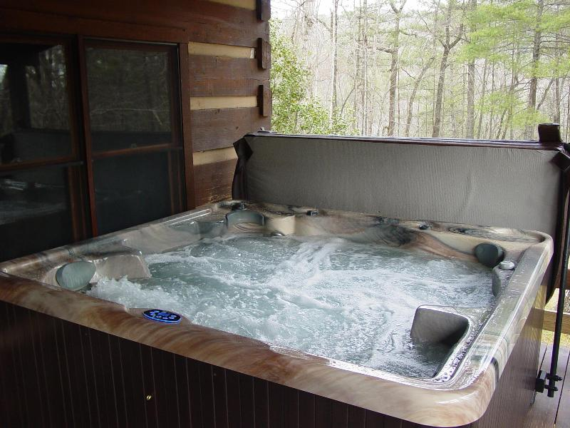 Brand New 6 Person Hot Tub Located on Covered Porch